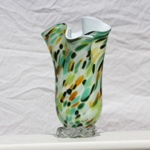 Shades of Summer Fluted Vase $125
